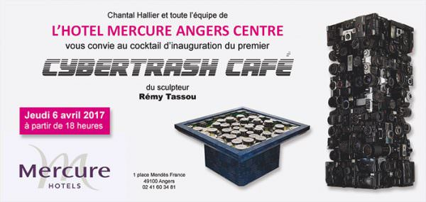 Vernissage Tassou Avril 2017 : Carton d'invitation Hotel Mercure