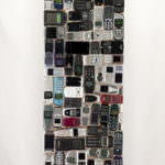 "Artworks named ""Motorola"": Cybertrash sculpture by Rémy Tassou. View of one face."