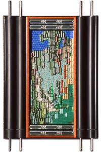 """Œuvre nommée """"Windows"""" : sculpture murale cybertrash du sculpteur Rémy Tassou. Vue principale."""