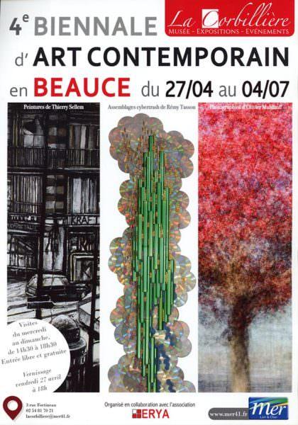 Affiche 4ème biennale d'art contemporain en Beauce, Mer (du 27 avril au 4 juillet 2018)