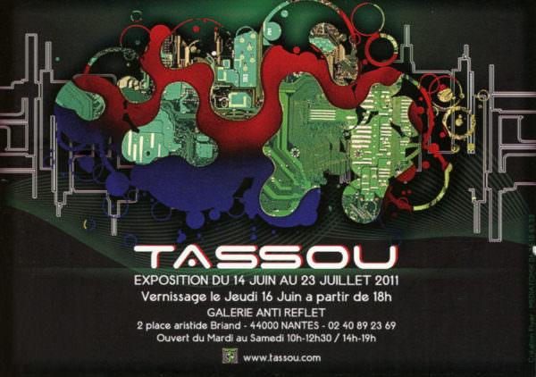 Flyer pour l'exposition à la Galerie Anti Reflets (du 14 juin au 23 juillet 2011)
