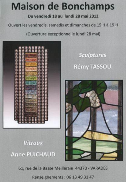 Affiche Exposition de Rémy Tassou à la maison de Bonchamps (44213 Varades),