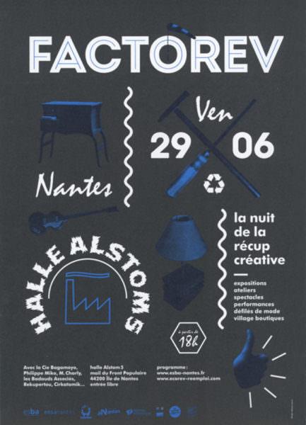 """1ère de couverture du Flyer """"Factorev: nuit-de la récup créative""""(vendredi 29 juin 2006)"""