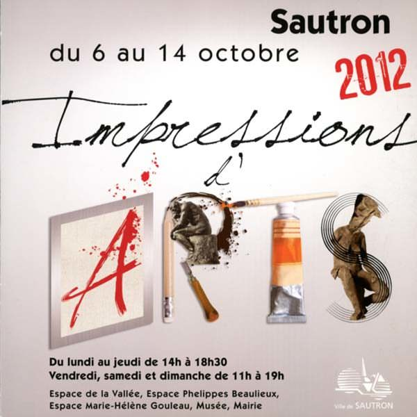 Flyer exposition Sautron (du 6 au 14 octobre 2012)