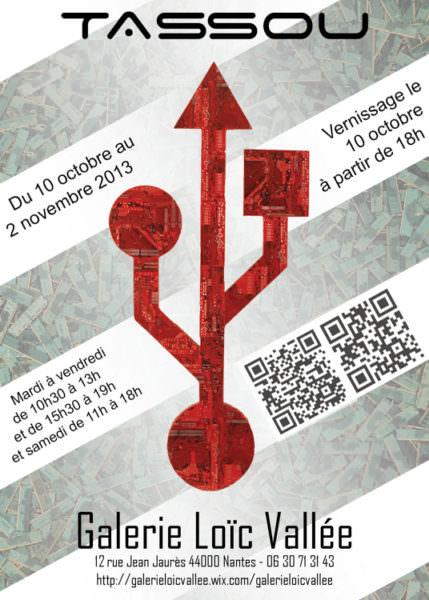 Affiche Exposition de Rémy Tassou à la Galerie Loïc Vallée (Nantes)