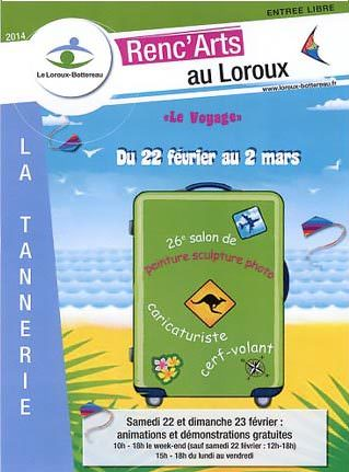 Affiche Renc'Arts 2014 et Logo Loroux-Botterau