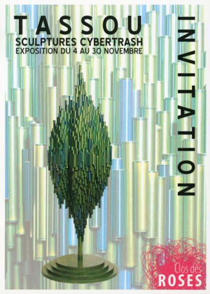 Recto du Flyer de l'exposition au Clos des Roses (Fréjus) du 4 au 30 novembre 2009
