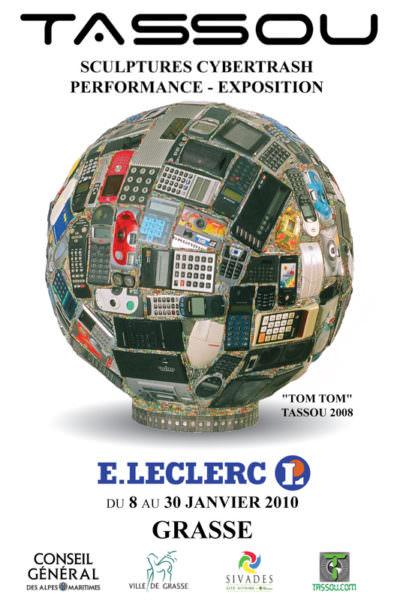 Affiche de l'exposition Tassou au centre E.Leclerc de Grasse Actu