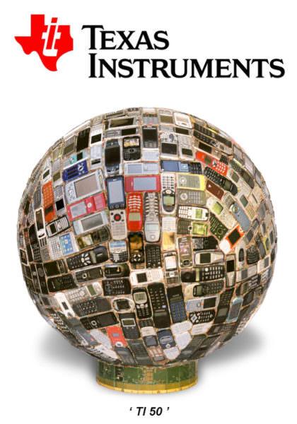 """Texas Instrument et l'oeuvre """"TI 50""""centre (exposition E.Leclerc de Grasse janvier 2010)"""