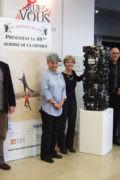 Avec l'équipe des Visteurs du Soir, des réalisateurs et Patricia Civel directrice de l'Artothèque l'Art Tisse