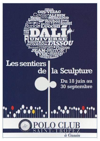 Carton d'invitation exposition Penven Saint-Tropez (2 juillet 2010)