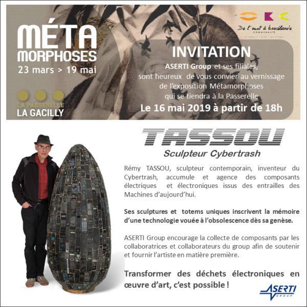 Carton d'invitation soirée Aserti Group du 16 mai 2019 à la Passerelle (La Gacilly)
