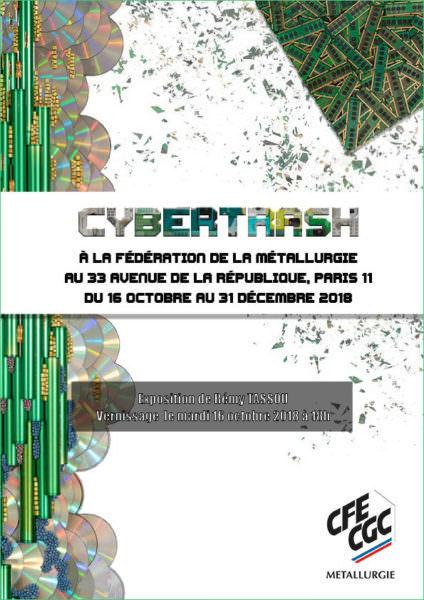 Couverture de la plaquette de l'exposition de Rémy Tassou au CFE-CGC - Paris - 2018
