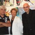 Peter Mac Lane, Laetitia Bonnici et Tassou au Mas d'Artigny le 5 novembre 2008, soir du vernissage.