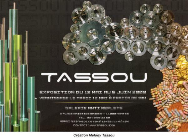 Flyer de l'exposition de Tassou à la Galerie Anti Reflets (Nantes) du 12 mai au 6 juin 2009