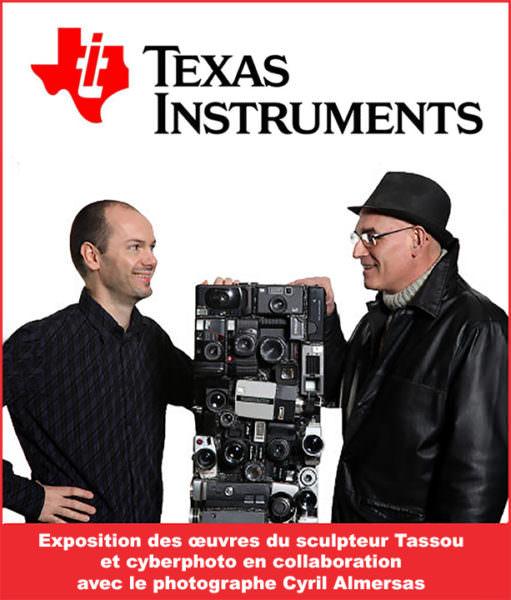 Le sculpteur-Tassou et Cyril Almeras et Logo Texas Instrument