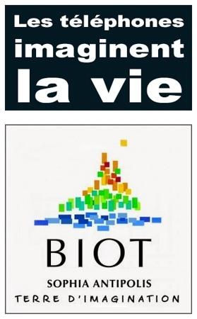 """Montage logo ville de Biot et 'Les téléphones imaginent la vie"""""""