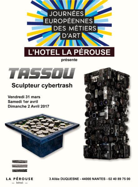 Affiche Exposition Rémy Tassou aux JEMA 2017, Hôtel La Pérouse (Nantes)