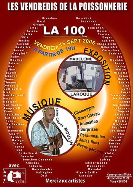 Affiche pour la 100ème de Poissonnerie