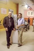 Philippe Florizoone et Tassou lors du vernissage de l'Exposition «Rencontre de l'inéluctable» le 27 Octobre au Muséaav de Nice