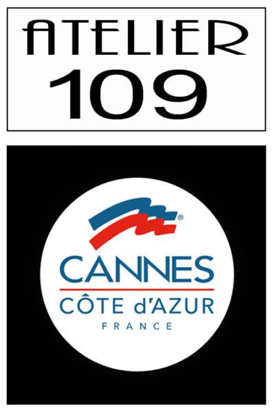 Montage logos ville de Cannes et Atelier 109