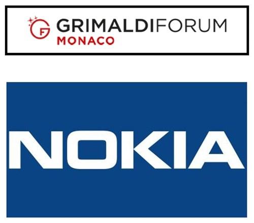montage logos Nokia et Grimaldi Forum de Monaco