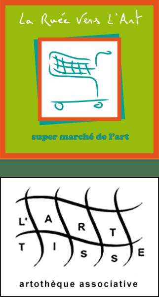 """Montage des logos """"La ruée vers l'art"""" et """"Art Tisse"""""""