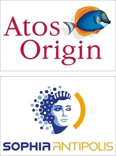 Montage logos Atos Origine et Logo_Sophia_Antipolis