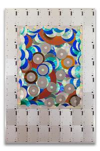 "Artwork named ""Pola"": cybertrash wall sculpture by Rémy Tassou"
