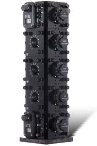 "Artwork named ""Enigma"": cybertrash wall sculpture by Rémy Tassou (3/4 view)"