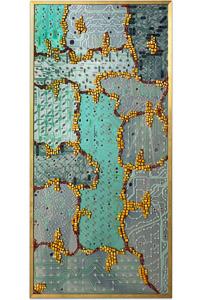 """Œuvre nommée """"Gyricon"""""""": sculpture murale cybertrash de Rémy Tassou. (vue principale, vignette)"""
