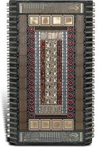 "Œuvre nommée ""Iridium"""": totem cybertrash de Rémy Tassou (vue principale)"