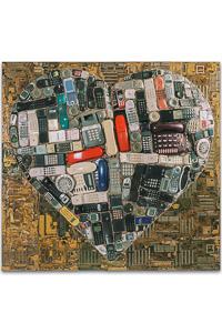 "Artwork named ""Hot Line"": wall sculpture cybertrash by Rémy Tassou (main view, vignette)"
