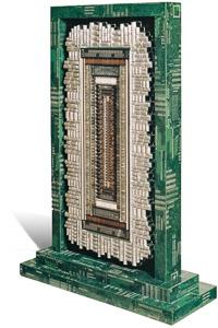 "Artwork named ""Arcade"": cybertrash sculpture by Rémy Tassou (main view)"