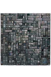 "Artwork named ""Show View"": mural sculpture cybertrash by Rémy Tassou. Main View"