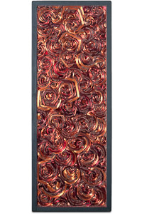 """Œuvre nommée """"Rewind"""" : sculpture murale cybertrash de Rémy Tassou. (vue principale, vignette)"""