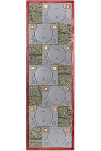 """Œuvre nommée """"Play"""" : sculpture murale cybertrash de Rémy Tassou. vue principale, vignette)"""