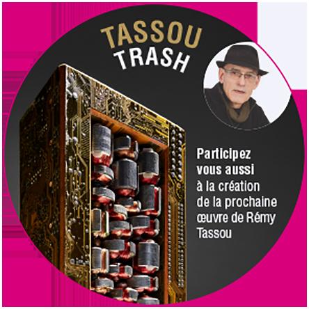 "Sticker Aserti ""Tassou Trash"" (2018, january)"